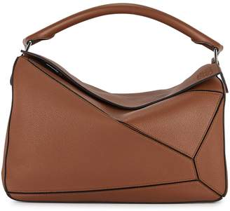 Loewe Puzzle large leather top handle bag