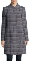 Ellen Tracy Glen Plaid One-Button Coat