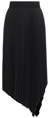 Joseph Swinton Handkerchief-hem Pleated-jersey Midi Skirt - Black