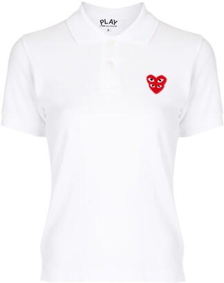 Comme des Garcons Haert-Patch Polo Shirt