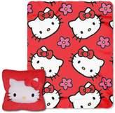 Hello Kitty Kitty Flowers 3D Pillow & Throw Set