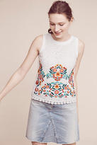 Maeve Embroidered Lace Shell