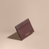 Burberry House Check And Grainy Leather Card Case