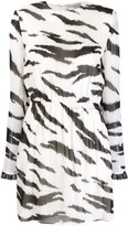 Philosophy di Lorenzo Serafini Zebra-Print Dress