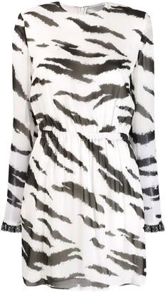Philosophy di Lorenzo Serafini zebra-print dress