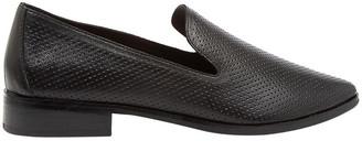 Diana Ferrari Nansie Black/Black Leather Flat Shoes