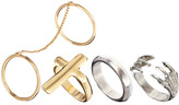 River Island Chain And Charm Ring Pack