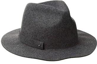 San Diego Hat Company WFH8205 Packable Felt Fedora (Black) Fedora Hats