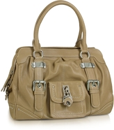 Buti Grained Leather Zippered Satchel Bag