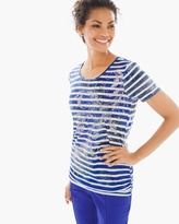 Chico's Maggie Printed Stripe Tee