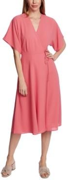 1 STATE Tie-Waist Midi Dress