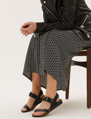 Marks and Spencer Leather Ring Detail Toe Loop Sandals