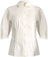 Sonia Rykiel Spread-collar stretch-cotton blouse