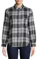 Zadig & Voltaire Tessy Plaid Patch Cotton Button-Down Shirt