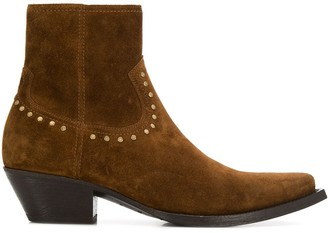Saint Laurent Lukas stud detail ankle boots