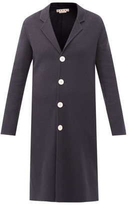 Marni Single-breasted Wool-blend Coat - Navy