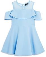 Bardot Junior Girls' Cold Shoulder Ruffle Dress - Sizes 4-7