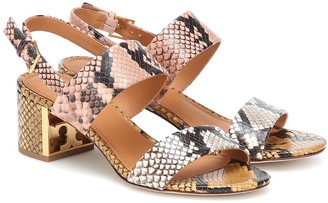 Tory Burch Gigi snake-effect leather sandals