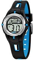 Calypso Children's Digital Watch with LCD Dial Digital Display and Black Plastic Strap K5506/4