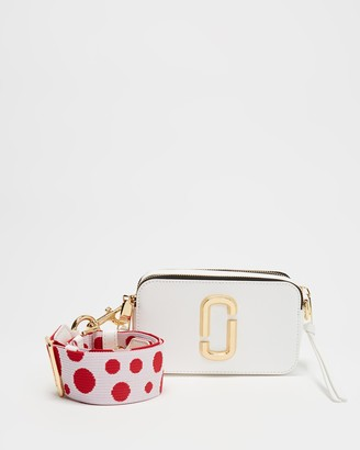 Marc Jacobs Women's White Leather bags - Snapshot Cross-Body Bag - Size One Size at The Iconic