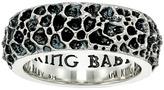 King Baby Studio Lava Rock Textured Band Ring Ring