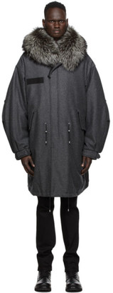 Mr & Mrs Italy Grey Nick Wooster Edition Wool Parka