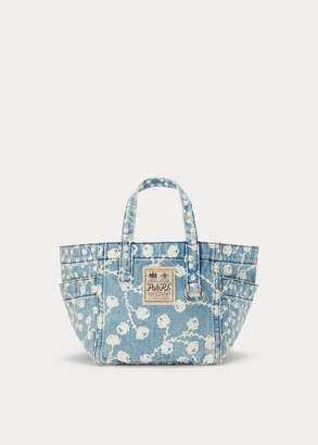 Ralph Lauren Denim Floral Mini Tote Bag