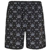 Dolce & Gabbana Crown Print Swimming Shorts