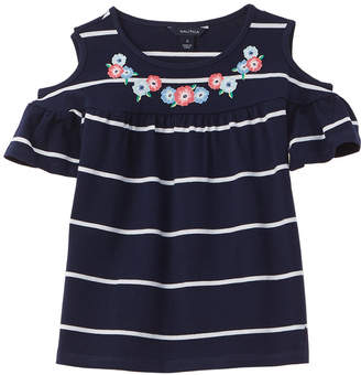 Nautica Floral Embellished Top