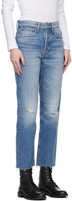 Rag & Bone Blue Maya High-Rise Slim Jeans