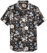 Sean John Men's Floral-Print Linen Shirt, Created for Macy's