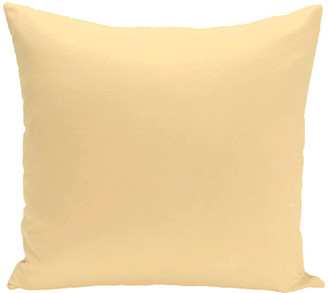 """E By Design Solid Print Pillow, Yellow, 16""""x16"""""""