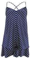 Lauren Ralph Lauren Women's Stripe Satin Camisole Pajamas (L, Navy/White)