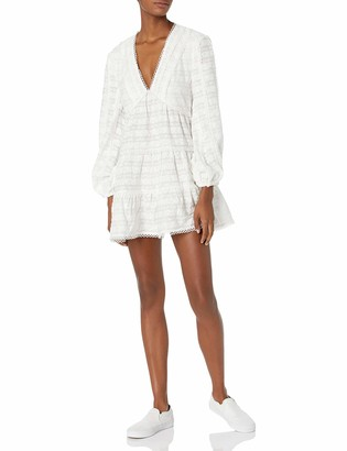 C/Meo Women's Long Sleeve V-Neck Lie Awake Mini Dress
