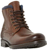Dune Channing Lace Up Boots, Tan