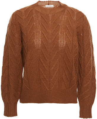 Joie Cable-knit Wool And Cashmere-blend Sweater