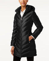 Calvin Klein Hooded Chevron Water-Resistant Down Puffer Coat