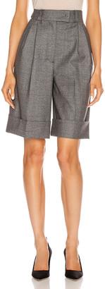 Miu Miu Cuffed Knee Length Short in Grey | FWRD