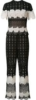 Yigal Azrouel two tone lace jumpsuit