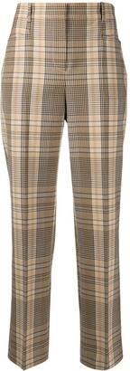 Joseph Check Print Trousers