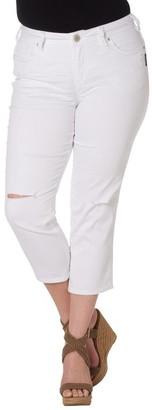 Silver Jeans Women's Plus-Size Suki High Capri Jean