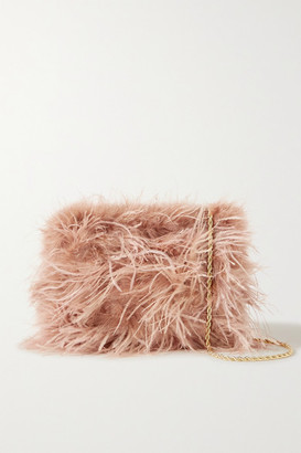 Loeffler Randall Zelda Feather Shoulder Bag - Antique rose