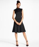 Brooks Brothers Beaded Satin A-Line Dress
