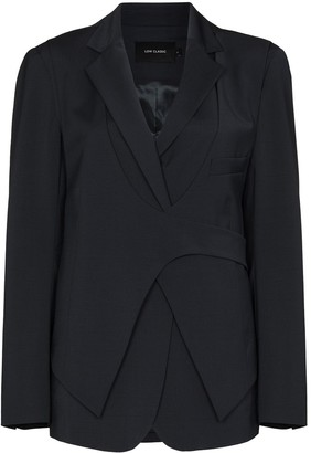 Low Classic Layered Wrap Front Blazer