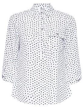 Dorothy Perkins Womens Dp Petite Ivory Spot Print Roll Sleeve Shirt, Ivory