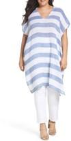 Eileen Fisher Plus Size Women's Stripe Linen Gauze Tunic