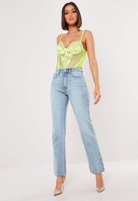 Missguided Light Blue Wrath Straight Leg Denim Jeans