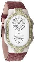 Philip Stein Teslar Signature Watch w/ Snakeskin Strap