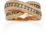 Espresso Natural Color Diamonds 10k Rose Gold 5/8-ct. T.W. Brown & White Diamond Crissross Ring