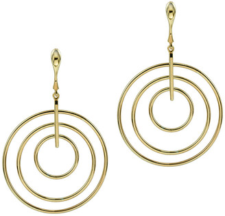 Argentovivo 18K Over Silver Multi Ring Drop Bar & Earrings